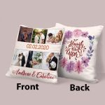 """""""Happily Ever After"""" Photo Collage Valentine's Day Gift Pillow"""
