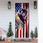 Patriotic Horse American Door Cover
