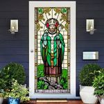 Patron Saint Of Ireland Stained Glass Door Cover