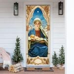 Mary Gives Birth To Jesus Door Cover