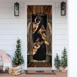 German Shepherd Happy Farmhouse Door Cover
