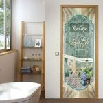 Relax You're On Bath Time Door Cover