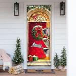 Reindeer Farmhouse Christmas Door Cover