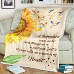 A Hummingbird To Remind Me Sunflower Hummingbird Blanket