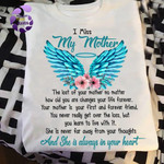 Memorial Gift For Mom Angel Wings T-shirt She Is Always In Your Heart