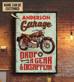 Personalized Motorcross Metal Sign Garage Drop A Gear