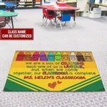 Personalized Rainbow Crayon Classroom Doormat Our Classroom Is Complete