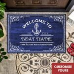 Personalized Boatman Doormat Welcome To Time & Tide Wait For No-one