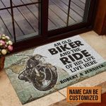 Personalized Gift For Couple Biking Doormat An Old Biker And The Ride Of His Life Live Here