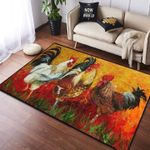 Chicken Painting Rug