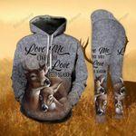 Buck And Doe 3D Hoodie And Leggings Love Me Like You Love Deer Season