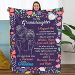 Gift For Granddaughter From Grandma Blanket I Hugged This Soft Blanket