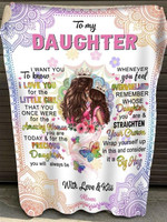 Gift For Daughter From Mom Mandala Blanket I Want You To Know