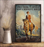 Riding Horse Canvas Wall Art And I Think To Myself What A Wonderful