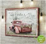 Personalized Gift For Couple Farmer Truck Canvas Wall Art All Of Me Loves