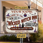 Personalized Witch Cat Metal Sign Welcome To The Wicked Witch Inn