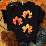 Cats Autumn Leaves Tshirt
