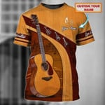 Personalized Guitar 3D T-shirt