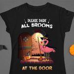 Duck Cartoon T-shirt Please Dark All Brooms At The Door