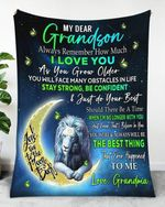 Gift For Grandson From Grandma Lion Blanket The Best Thing That Ever Happened To Me