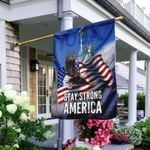 Eagle American House Flag Stay Strong America