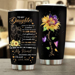Gift For Daughter Mom Sunflower Butterfly Tumbler When It's Too Hard