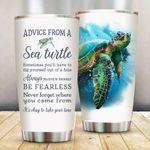 Turtle Tumbler Advice From A Sea Turtle