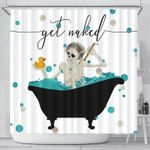 Skeleton On Bathroom Shower Curtain Get Naked