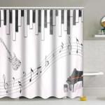 Musical Piano Guitar Shower Curtain