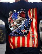 Fishing American Flag Tshirt
