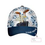 Tropical Pattern Golfing Custom Cap