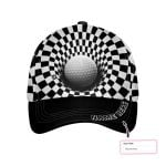 Personalized Black And White 3D Effect Golf Ball Custom Cap