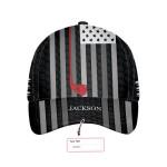 Black And White American Flag Custom Cap