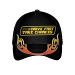 Drive Fast Take Chances Flaming Golf Ball On Fire Custom Cap