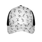 Black And White Stick Figures Golf Ball Texture Cap