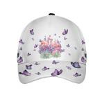 Flamingo Purple Flower Cap