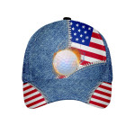 Golf Zipper American Flag Cap