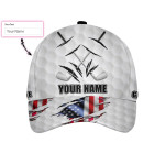 Life Is A Game Golf Is Serious Custom Cap
