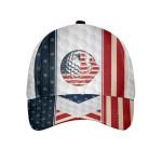 White American Golfing Cap