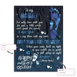 Personalized Gift From Little Baby To Mommy Happy Mother'S Day Little Baby Foot Silhouette Ez12 0303 Custom Fleece Blanket