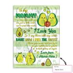 Personalized Gift From Little Baby To Mommy Happy Mother'S Day Cute Avocado Ez12 0303 Custom Fleece Blanket