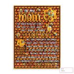Kid To Mom Bee Nest Background Ez24 0303 Custom Fleece Blanket