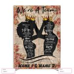 Personalized Name Family We Are A Team Ez12 1802 Custom Fleece Blanket