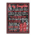 Dad To Daughter Firefighter Ez24 0502 Fleece Blanket