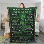Gift For Mom Saint Patrick'S Day Irish Daughter 5 Ez12 0402 Fleece Blanket