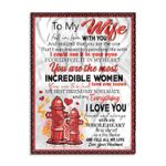 To My Wife I Fell In Love With You Firefighter Ez24 3001 Fleece Blanket