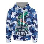 I Have A Saur Throat Dinosaur Ez21 2810 All Over Print Hoodie