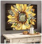 Sunflower Hummingbird Canvas Wall Art God Says You Are Precious