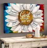 Daisy Canvas Wall Art God Says You Are Precious