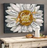 Daisy Hummingbird Canvas Wall Art God Says You Are Precious